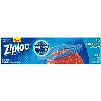 Ziploc Freezer Gallon Bags, 15ct