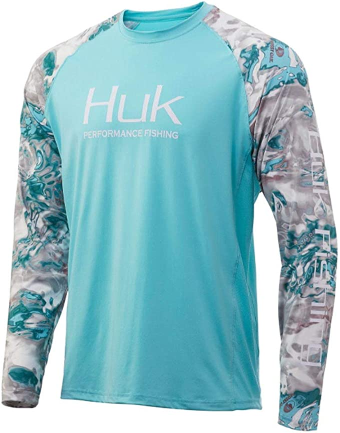 2X-Large White Long Sleeve Performance Fishing Shirt With +30 UPF Sun Protection Huk Mens Pursuit Vented Long Sleeve Shirt