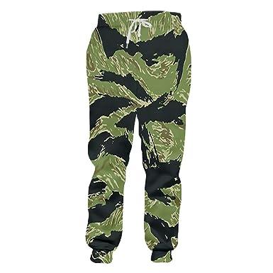 Bridfa Pantalones chándal Casuales Hombre Pantalones Largos con ...