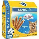 PEDIGREE DENTASTIX Toy/Small Dog Chew Treats, Original, 108 Treats (2 Pack) UVG#H