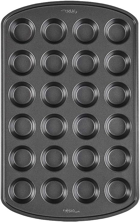 Wilton Perfect Results Non Stick Mini Muffin Pan 24 Cup Amazon Ca Home Kitchen