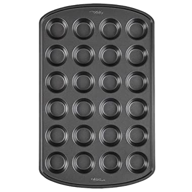 Wilton Perfect Results Premium Non-Stick Mini Muffin and Cupcake Pan, 24-Cup