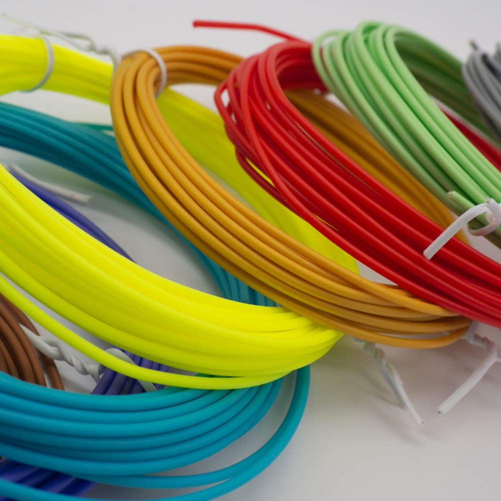 10 Colors, 164 Feet PCL 3D Pen Filament 1.75mm,Mimore 3D Pen Filament Refills for 3D Printing Pen and More 3D PCL Pen
