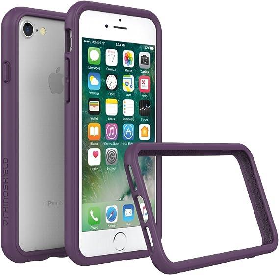 RhinoShield Ultra Protective Bumper Case CrashGuard Military Grade Drop Protection for Full Impact Purple Slim iPhone 8//7 Scratch Resistant