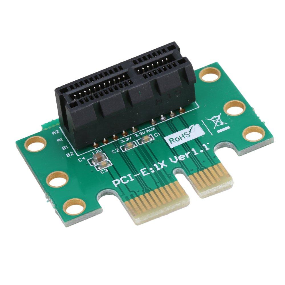 RDEXP Half to Full Size Mini PCI-E WIF Wireless Card Adapter Bracket Set of 2