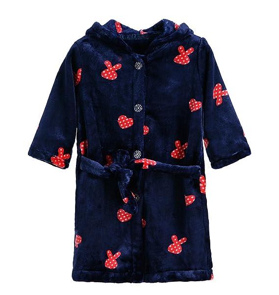 XINNE Unisex Niños con Capucha De Albornoz Niños Niñas Bata Bebé Pijamas De Franela Ropa De Dormir Ropa De Hogar: Amazon.es: Ropa y accesorios