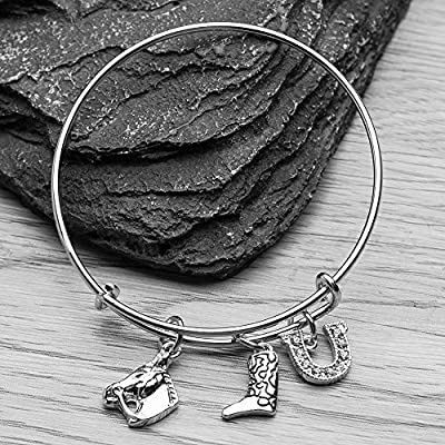 Infinity Collection Equestrian Charm Bracelet, Horse Lovers Jewelry, Cowgirl Jewelry, for Her