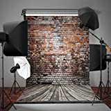 Mohoo 5x7FT Silk Brick Wall Photography Background Studio Photo Props Backdrop for Photo Studio Props Silk 1.5x2.1m (Updated Material)