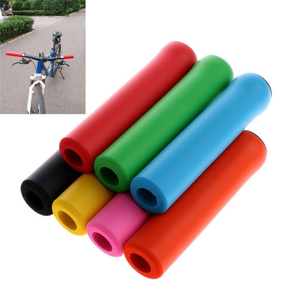 sinwo自転車ultraight高密度シリコンスポンジハンドルバーグリップ自転車バイクサイクリングハンドルバーグリップ B0743B7289 ブルー ブルー