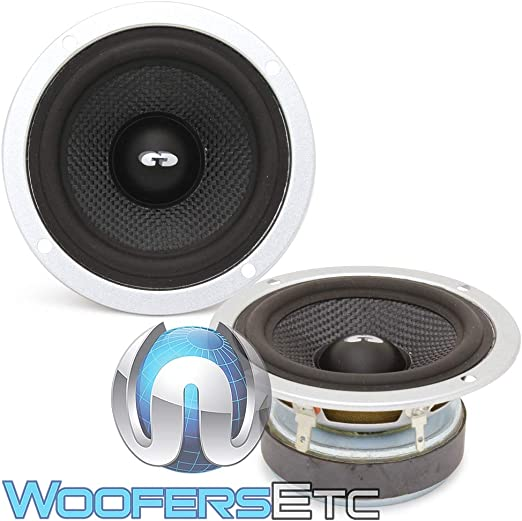 "NEW 2.5/"" Tweeter.Home Audio Replacement Speaker.4ohm High.silk dome.2-1//2/"" frame"