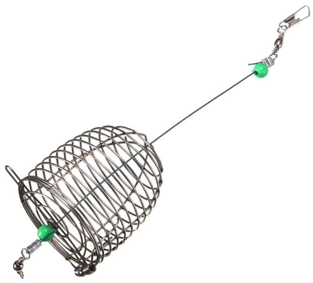 taloyerステンレス鋼線釣り餌ルアーケージトラップバスケットフィーダーホルダー Large  B01ISMI7KG