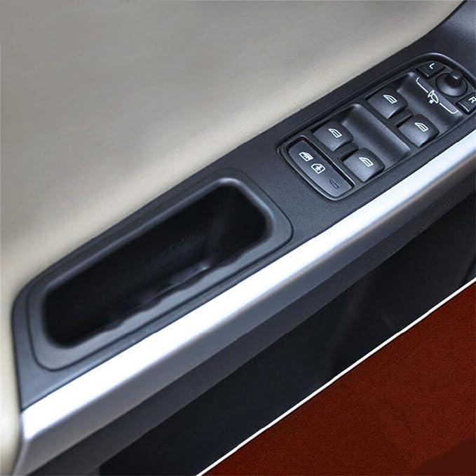 9 MOON Armrest Storage Box for Volvo XC60 2010 2011 2012 2013 2014 2015 Front Door Black 2PCS