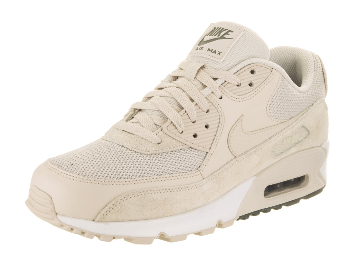 Nike Herren Air Max 90 Essential Beige Leder/Synthetik Sneaker  44.5 EU|Beige (Light Orewood Brown/River Rock/White)