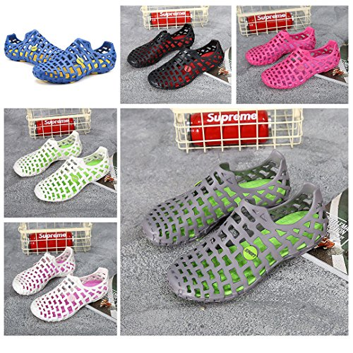 HooyFeel Men Slippers Clogs Shoes Garden Women Perforated Sandals For Gray FwZ0rFq