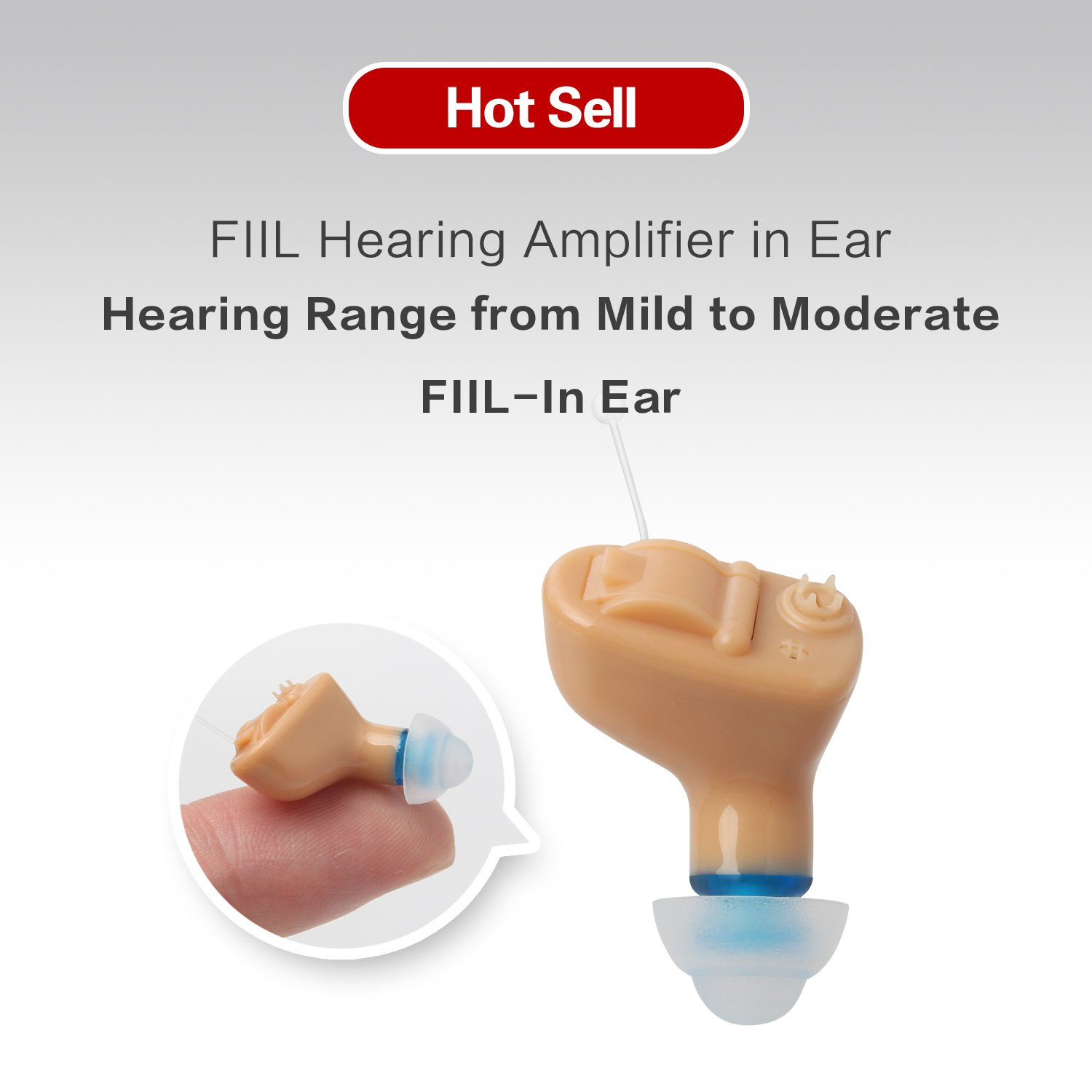 FIIL Hearing Amplifier in Ear Mini Sound Amplifier Battery A10 Voice Control Long Battery Life, Durable Design, Highly Advanced Mini Micro Processor Technology (Left)