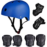 Skateboard / Skate Protection Set with Helmet--SymbolLife Helmet with 6pcs Elbow Knee Wrist Pads for Kids BMX/ Skateboard / Scooter