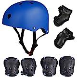 Skateboard / Skate Protection Set with Helmet--SymbolLife Helmet with 6pcs Elbow Knee Wrist Pads for Kids BMX/ Skateboard / Scooter