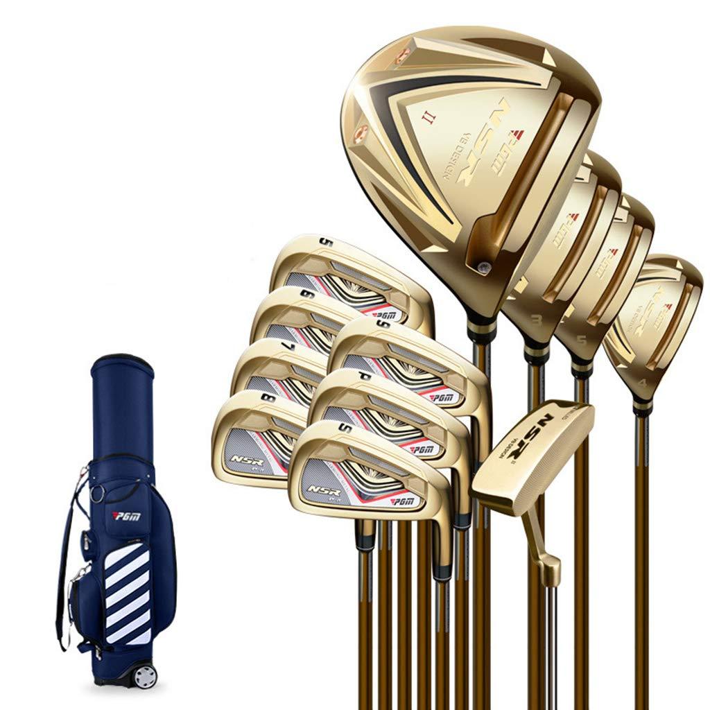 ゴルフクラブ、ゴルフクラブセット、12ピースメンズコンプリートゴルフクラブ、超高反発、打撃しやすい(ブラックカラーゴールデン) ゴールド