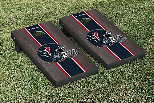 NFL Houston Texans Onyx Stained Stripe Version Football Cornhole Game Set, 24'' x 48'', Multicolor by Victory Tailgate (Image #1)