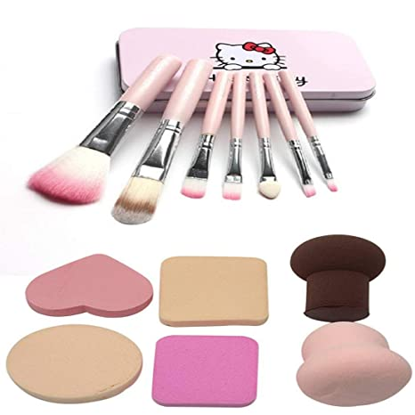 82dd0f667 Buy BELLA HARARO Metal Synthetic Makeup Brushes (Set of 7), Face Contour  Brush, Blusher Brush with Sponge Makeup 6 In 1 Beauty Online at Low Prices  in India ...