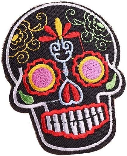 KUSTOM FACTORY - Parche de Calavera con diseño de Calavera, Color Negro: Amazon.es: Coche y moto