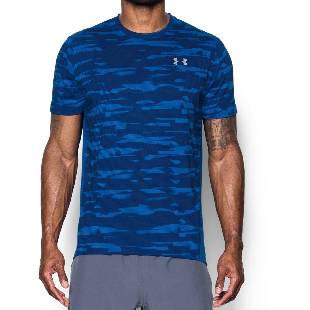 Under Armour Men's Threadborne Run Mesh Shorts Sleeve,Lapis Blue /Reflective, Small by Under Armour (Image #1)