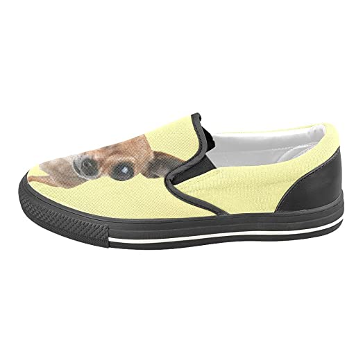 Cute Dog Chihuahua Canvas Slip-on Loafer For Men