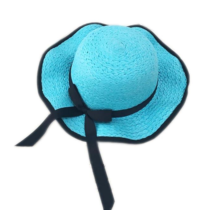 Gorra para padres e hijos Sombrero de playa Sombrero de paja ...