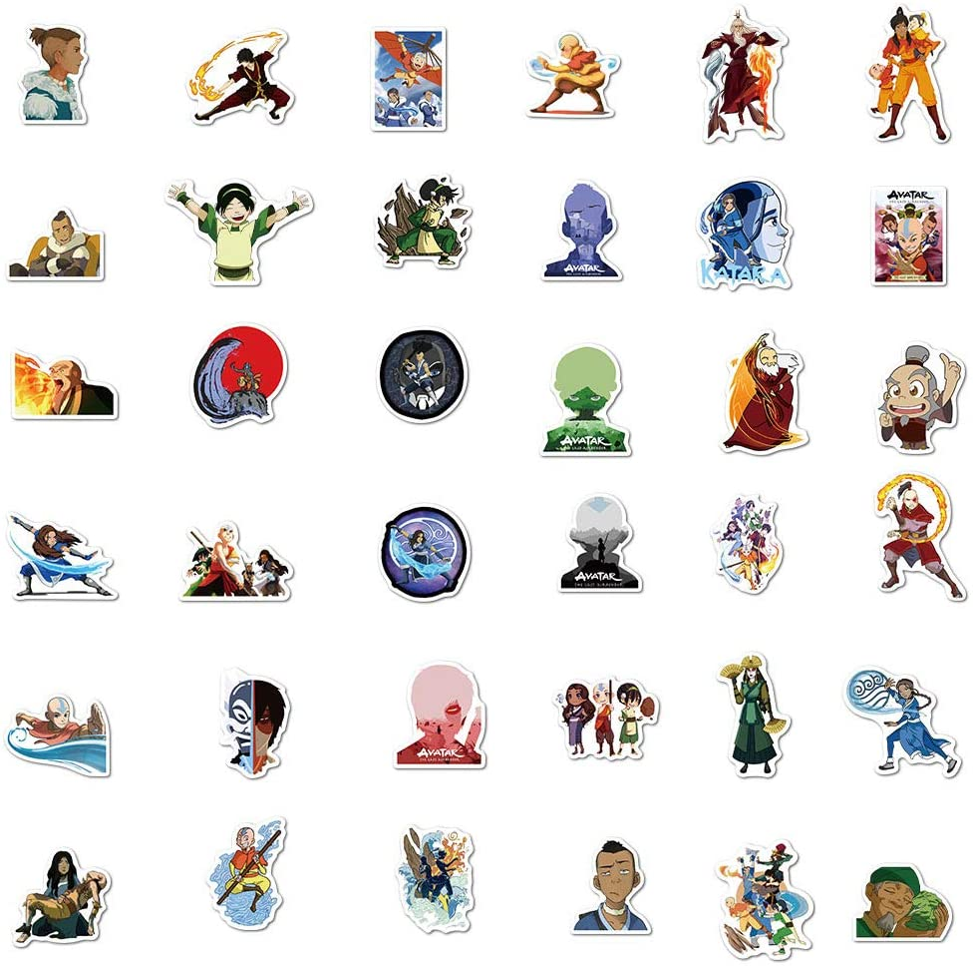 100 PCS Avatar The Last Airbender Stickers
