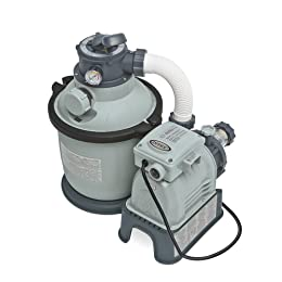 Intex Krystal Clear Sand Filter Pump for Above Ground Pools, 1200 GPH Pump Flow Rate, 110-120V with GFCI
