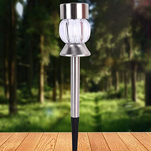 LC-lights Lámpara LED para jardín o jardín, Funciona con energía Solar, para Exteriores, callejón de Carretera, estaca: Amazon.es: Jardín