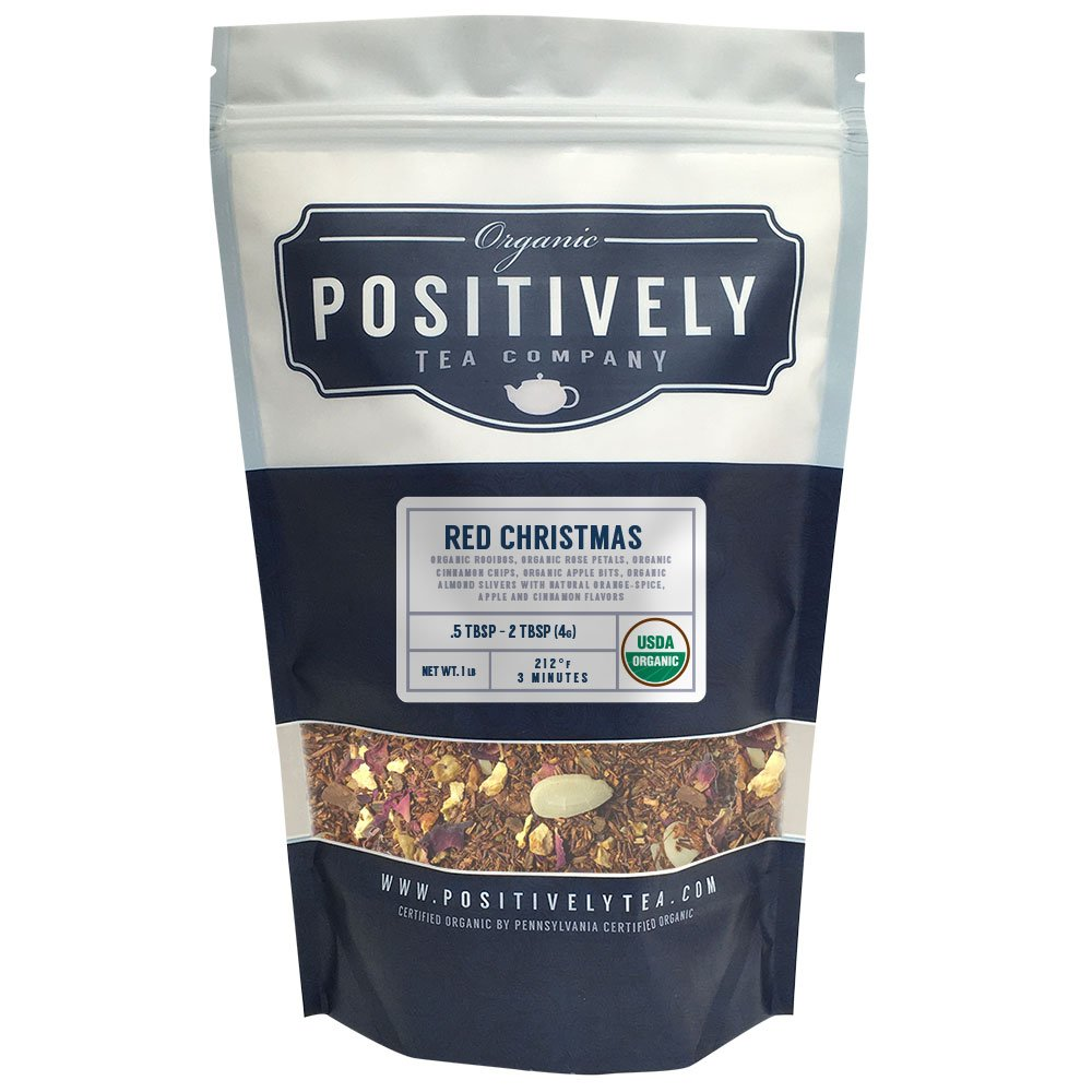 Positively Tea Company, Organic Red Christmas, Rooibos Tea, Loose Leaf, USDA Organic, 1 Pound Bag by Organic Positively Tea Company