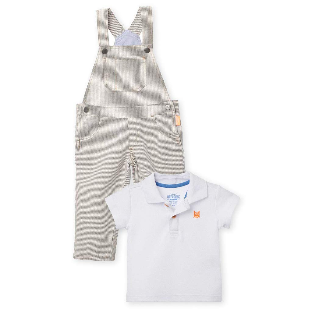 Amazon.com: OFFCORSS Baby Boy Kid Bib Overall + Polo Shirt 2 Pieces ...