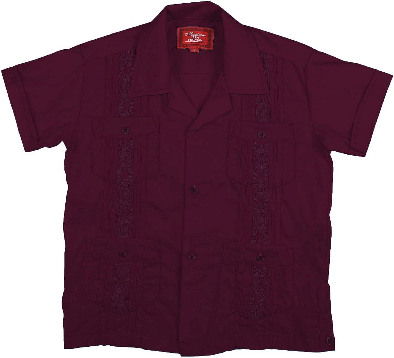 9 Crowns Essentials Mens Guayabera Button Down Shirt