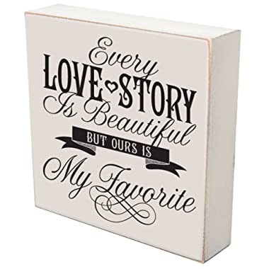 Every Love Story Is Beautiful But Our Is My Favorite Wedding anniversary gift for couple, housewarming gifts ideas for Mr. and Mrs. love shadow box (Every love story is beautiful)