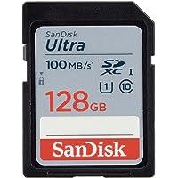 SanDisk Ultra 128 GB SDHC-geheugenkaart met maximaal 100 MB / s, klasse 10 UHS-I