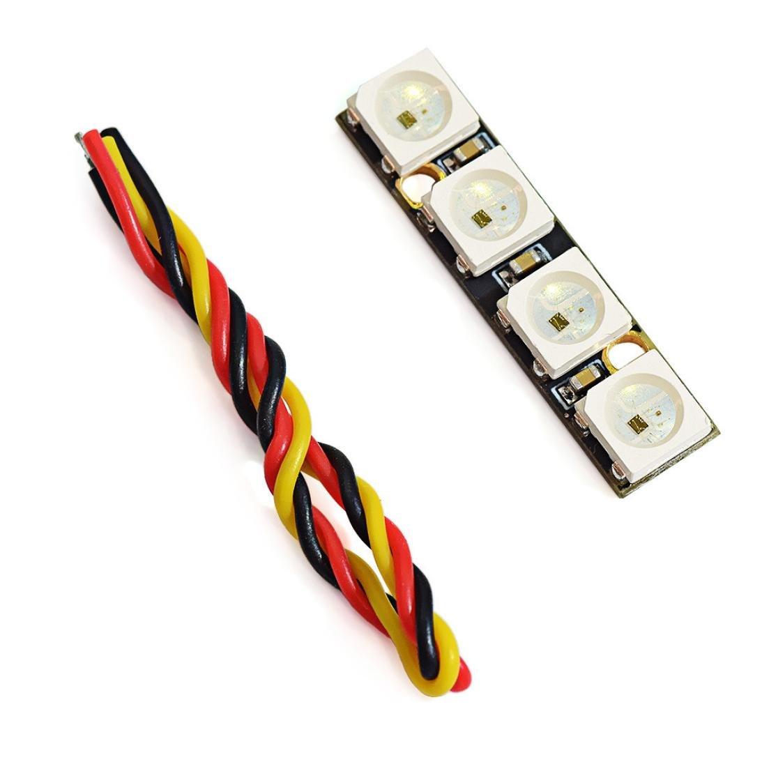 Dartphew クアッドコプターキット プログラム可能なLED互換 WS2812B RGB5050 NAZE32 F3 F4 フライトコントローラー付き B07DNYTZMJ
