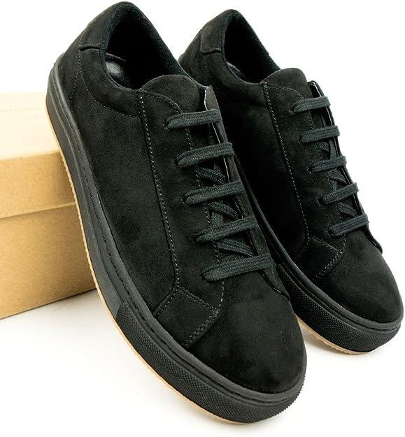 Will's Vegan Shoes Damen Farbige Sneaker Schwarz Veganes