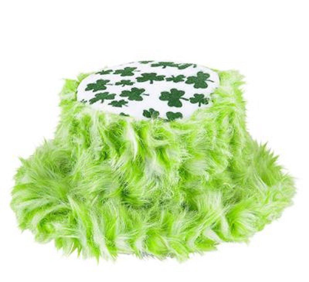 DELUXE SHAMROCK FURRY BUCKET HAT ST PATRICKS DAY 1 DOZEN by RIN001