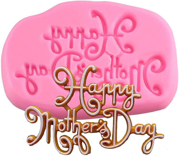 Amazon.com: 3D Cake Border Silicone Molds Happy Mothers Day Cake Decorating Tools Fondant Candy Chocolate Gumpaste Moulds: Arts, Crafts & Sewing