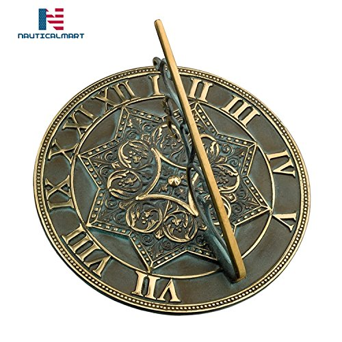 NAUTICALMART Brass Gothic Sundial - Gift