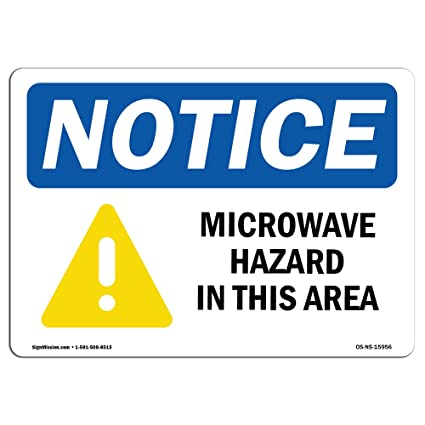 Señal de advertencia de Osha – Aviso de peligro de microondas en ...