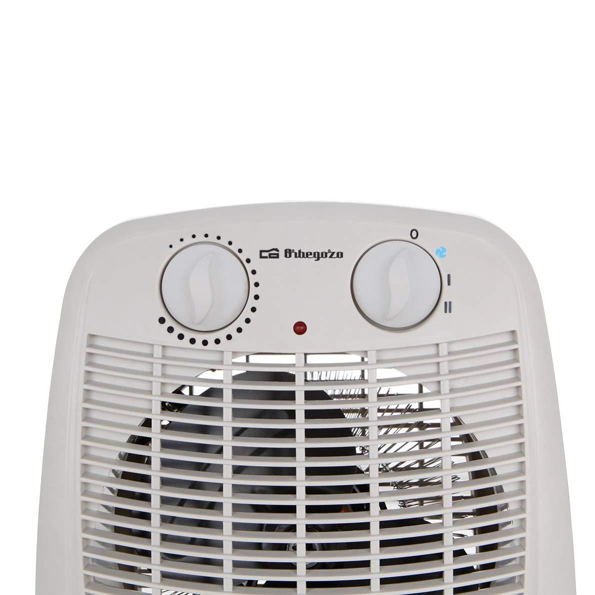 Orbegozo FH 7001 2 niveles de calor y modo ventilador de aire fr/ío Calefactor ba/ño con movimiento oscilante 2000 W de potencia