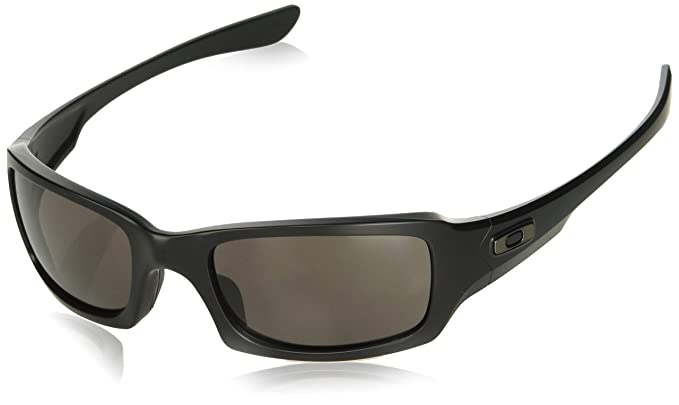 58abcf9bd4 Oakley SI Fives Squared Sunglasses Matte Black  w Warm Grey OO9238-10   Oakley  Amazon.co.uk  Clothing