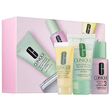 Clinique 3-Step Kit Travel Size - Combination Oily to Oily Skin (Type 3/4)