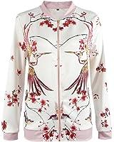 LUNIWEI Women Long Sleeve Print Coat Jacket Outwear Cardigan