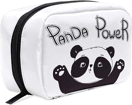 Estuche para cosméticos con diseño de Panda Hecho a Mano, para Guardar artículos de tocador de Viaje, para Mujeres y niñas: Amazon.es: Equipaje