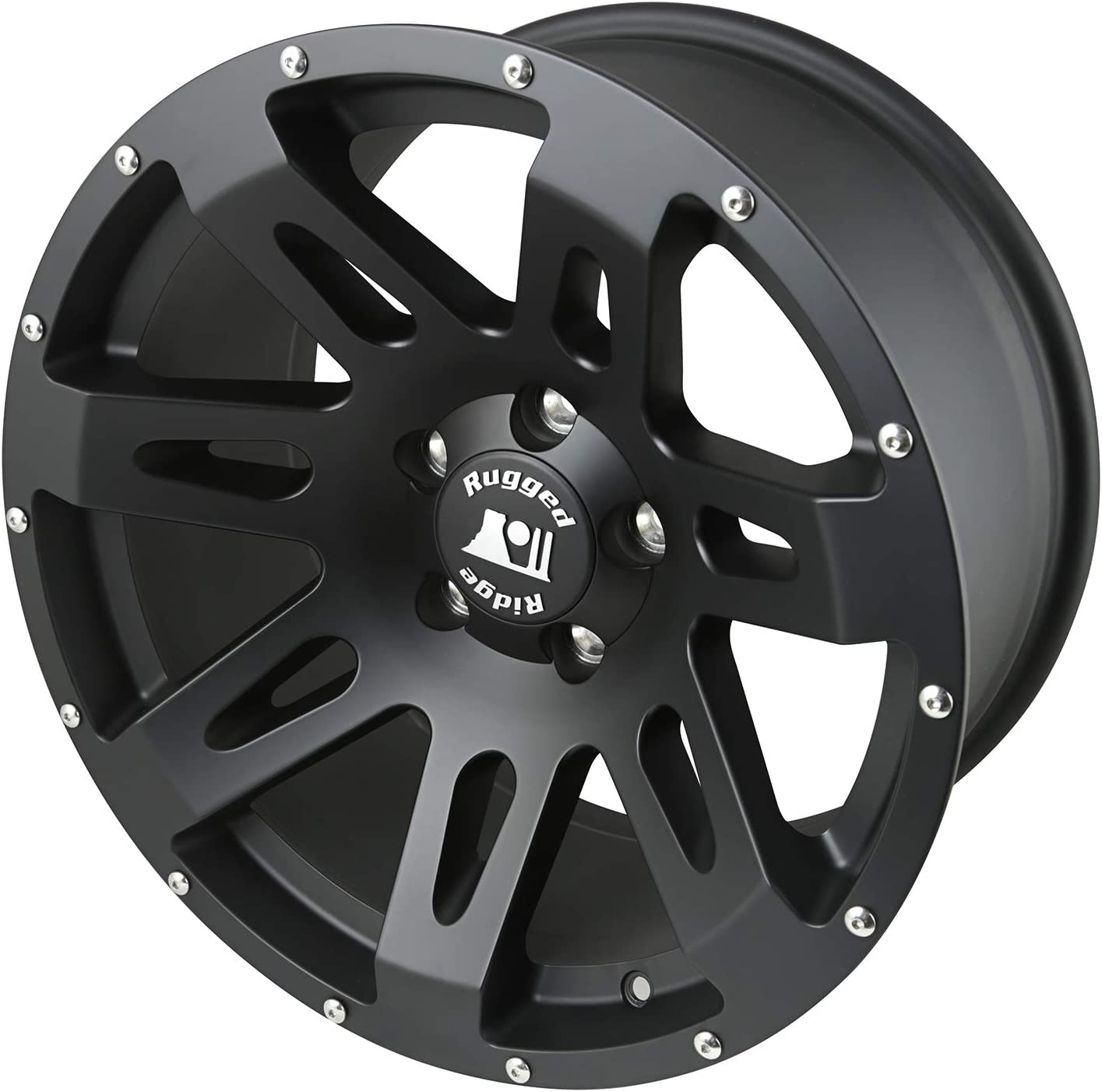 17x9//5x5 Rugged Ridge 15301.01 XHD Black Satin Wheel for Select Jeep Wrangler JK Models