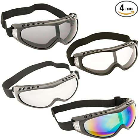79928b4c458 Image Unavailable. Image not available for. Color  TukTek Snowboard Ski  Goggles Pack of 4 Snow Sports Glasses ...