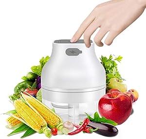 Allnice Food Chopper, Electric Onion Garlic Chopper Mini Chopper Food Processor for Meat Vegetables Fruits Versatile Gadget Kitchen Accessories (100ml)